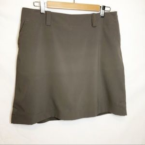 NIKE GOLF Taupe Dri Fit Skirt with Shorts